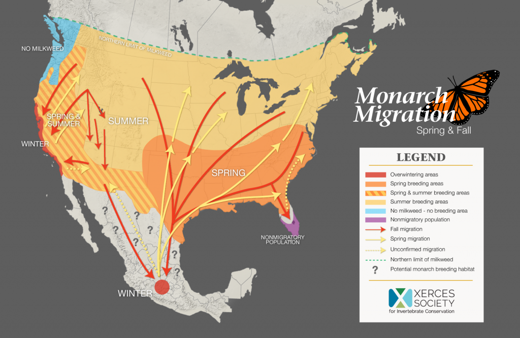 Monarch Map Xerces Society