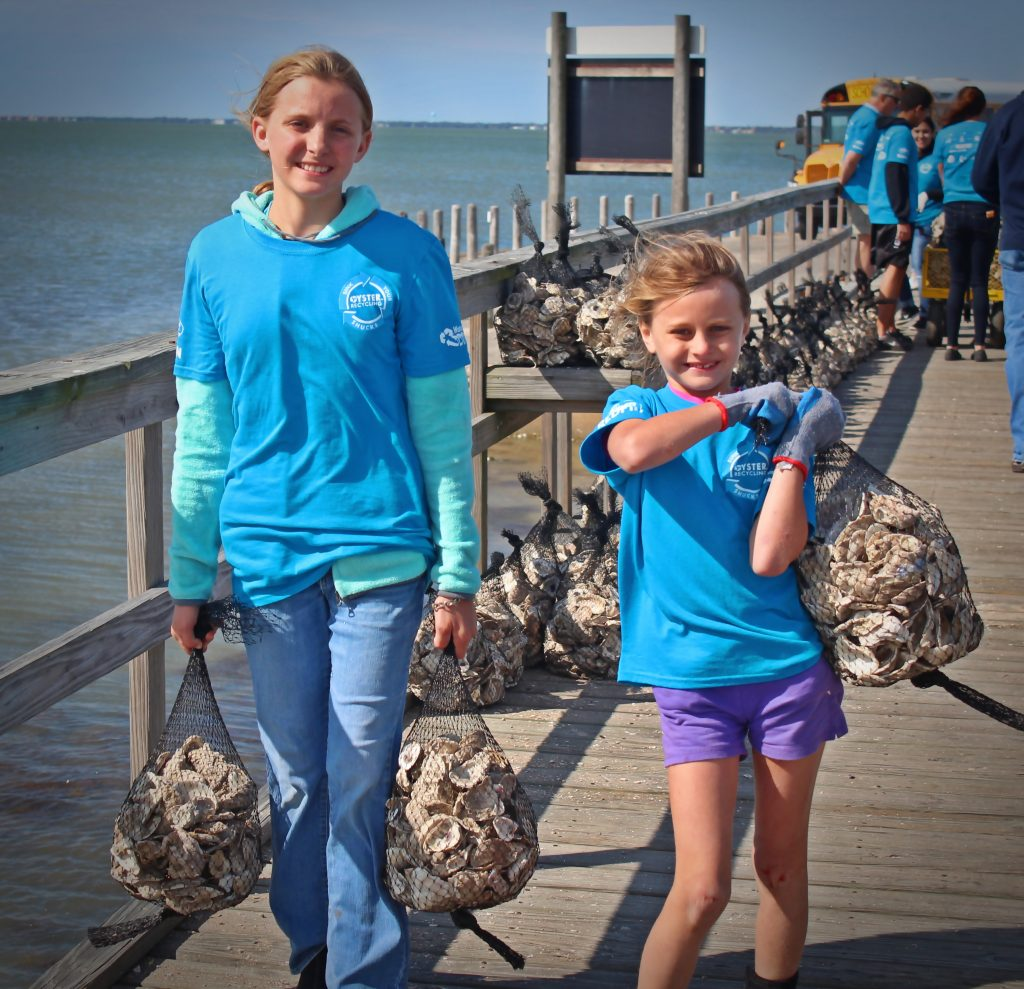 Recycling oyster shells in Sabine Lake
