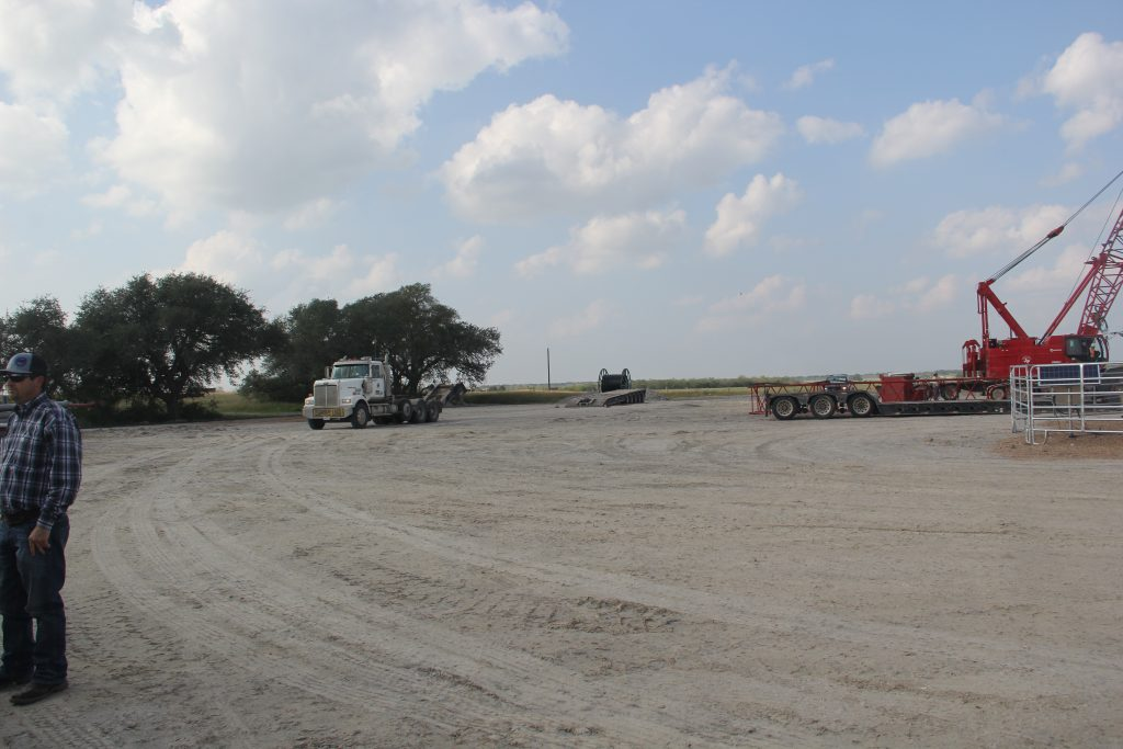 EOG Resources' pad site before restoration for pollinator habitat