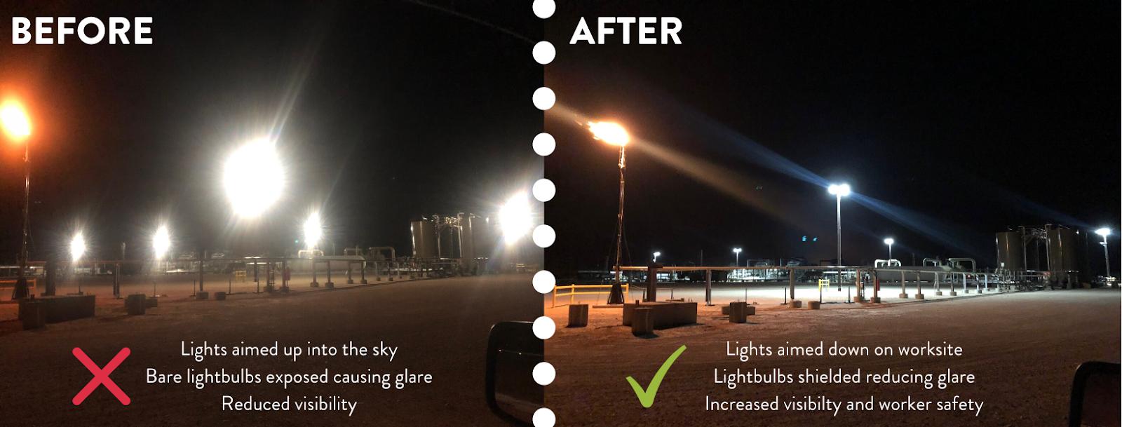 WPX Energy Dark Skies Lighting