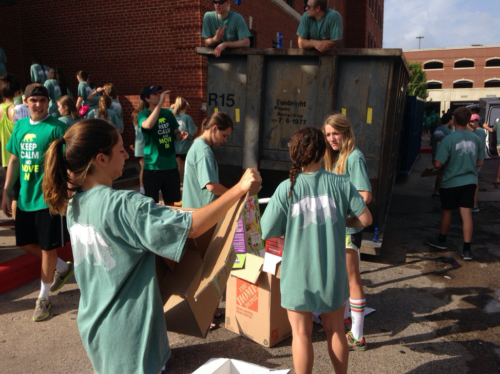Baylor University's Move-In and Move-Out