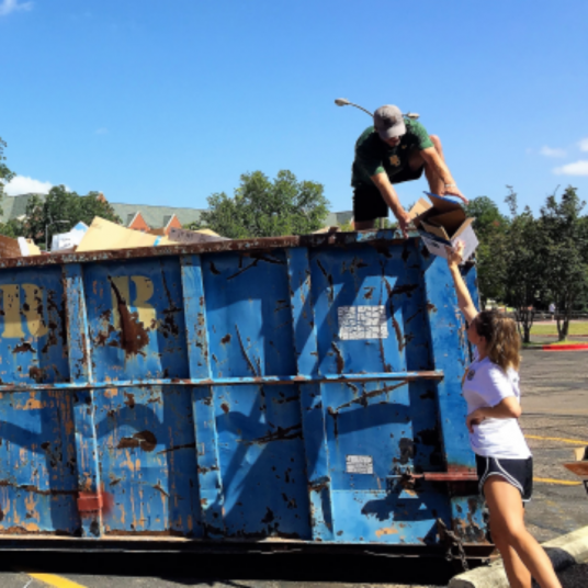 Recycling for Baylor's Sustainability Program