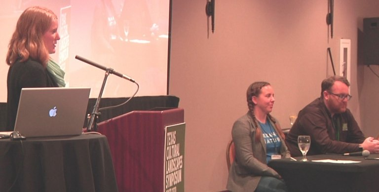 Jenny Burden from Texan By Nature participating in Cultural Landscapes Panel
