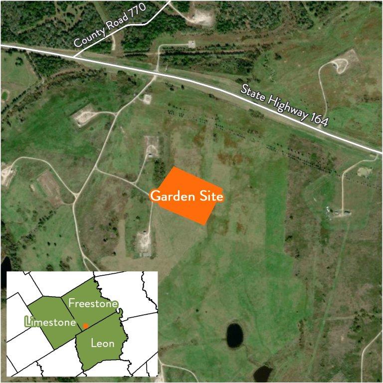 NRG Dewey Prairie Garden Map