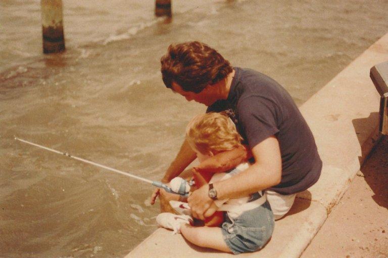 Baby Scott Fishing