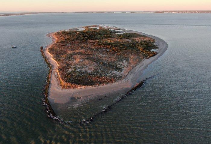 Chester Island, a rookery island in Matagorda Bay
